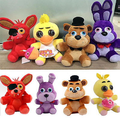 "10"" FNAF Five Night at Freddy's Kid Toy Cartoon Plush Stuffed /Foxy/Bonnie/chica"