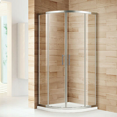 Quadrant Shower Cubicle And Tray Free Waste Walk In Enclosure Corner Glass Door