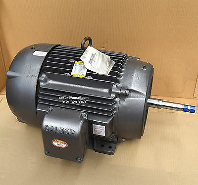 New Baldor 30kW (40HP) Electric Motor 1450RPM 4-Pole 3-Phase Foot & Flange