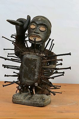 Bakongo Nkisi Power Nail Figure Fetish from Africa DR congo