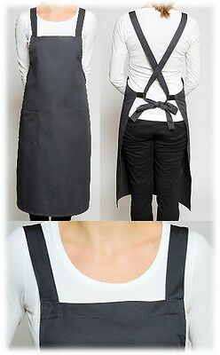 EUROPEAN CROSS OVER APRONS - Crossover chef waiter waitress jacket pants apron