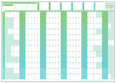 Giant 2016 / 2017 Academic Year Wall Planner (Laminated)