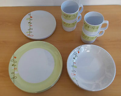 Brunner Dinner Set 16 Piece Melamine Caravan Motorhome Crockery Esprit