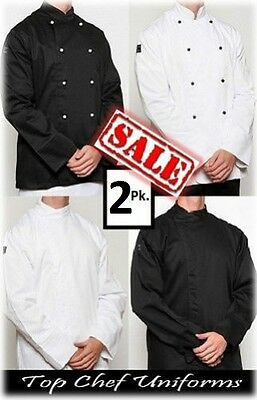Chef Jacket (2) - Black or White - Brand New ...  Chef pants apron jackets