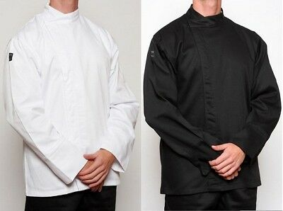 Chef Jacket - Black or White - Metal Press Buttons