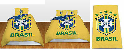 Brasil Football Single Duvet Set, Double Duvet Set, Beach Towel