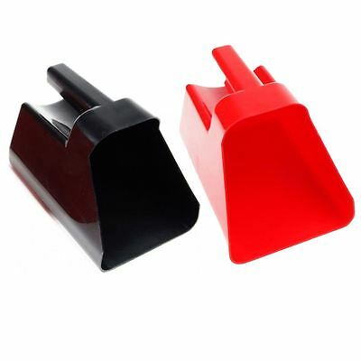 Red Horse Plastic Feeding Scoop Stable Dry Food Buckets Element In Black & Red