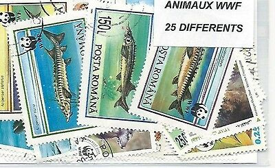 Animaux WWF 25 timbres différents