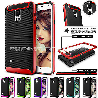 Slim Shockproof Dual Protective Hard Back Case Cover for Samsung Galaxy Mobile