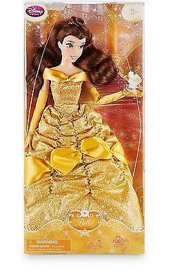 Disney Store 2016 Belle Classic Doll With Chip Authentic New