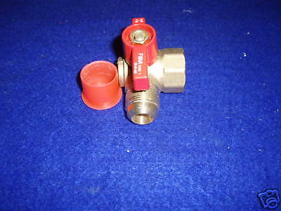 Flare 3//4-Inch FIP X 15//16-Inch LDR 509 1750 Brass Gas Angle Ball Valve Heavy Duty