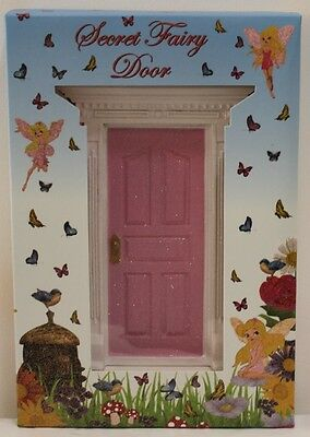 New Secret Fairy Door - Light Pink - Fv104 Glitter Kids Bedroom Tooth Faerie