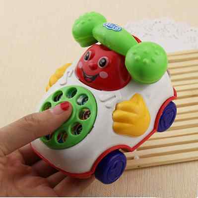 Plastic Colorful Baby Kid Toy Phone Music Telephone Educational Toy Cute Toy UK