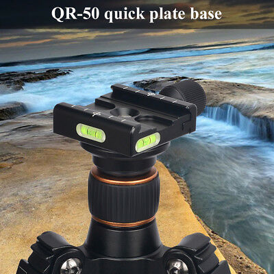 QR-50 Clamp Quick Release Plate For Arca SWISS RRS BENRO Tripod Ball Head QR50