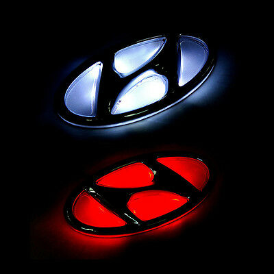 LED 2way H Emblem Front Hood or Rear Trunk Choice 1p For 11-15 Hyundai Veloster