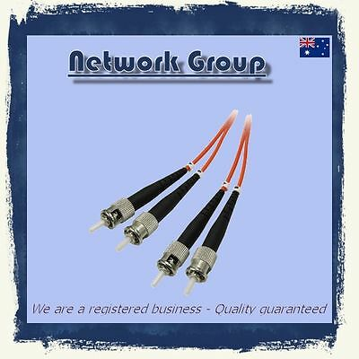 Fiber Optic ST-ST 1 Meter MM DX patch cord 62.5/125 Multimode Duplex Buy 4 Get 5