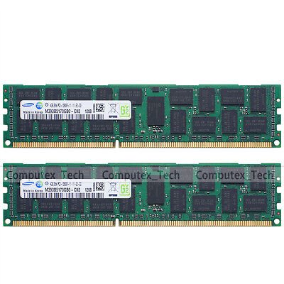 Samsung 8GB 2x4GB PC3-12800R DDR3-1600 RAM ECC Registered Server Memory 240Pin