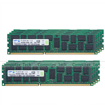 Samsung 32GB 8x4GB PC3-12800R DDR3-1600 RAM ECC Registered Server Memory 240Pin