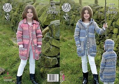 KINGCOLE 4606 KIDS  Chunky KNITTING PATTERN  24-32IN -not the finished garments