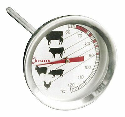 Meat Thermometer Poultry BBQ Oven Temperature Cooks Probe Stainless Steel