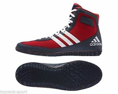 Adidas Mat Wizard 3 Scarlet Coll Navy Wrestling Boots Shoes Adults Mens Pro