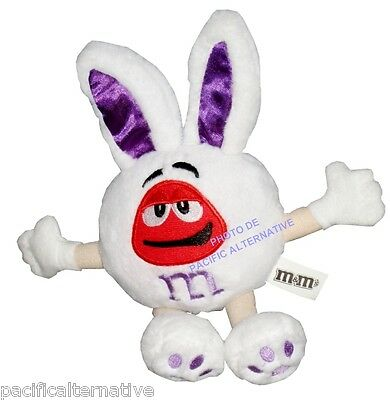 Peluche M&M'S lapin Rouge violet plush pink rabbit kaninchen mms mm's new NEUF