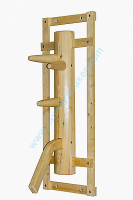 Wing Chun dummy with leg and gripping arch natural color
