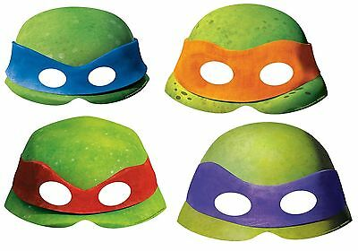 8 x Teenage Mutant Ninja Turtle Party Face Masks Ninja Party Supplies Favours