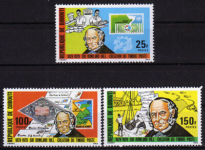 Dschibuti 245-47 **, 100.Todestag Sir Rowland Hill-stamp on stamp