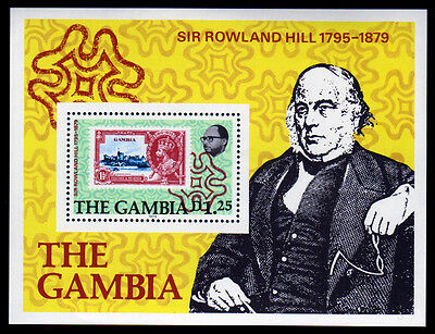 Gambia Bl. 4 **, 100.Todestag Sir Rowland Hill-stamp on stamp