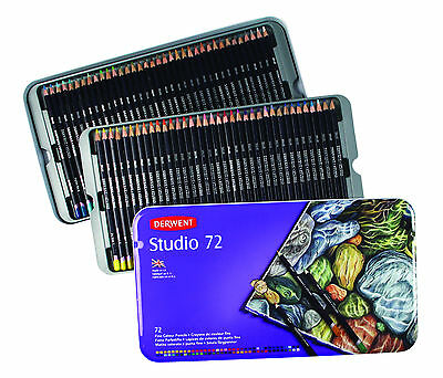 Derwent Studio Pencils 72 Tin - Complete Set of Colours