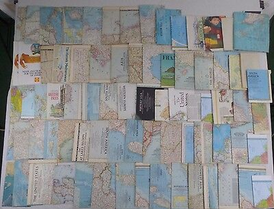 World & Country,Atlas,Maps,National Geographic,Fold Out,Lot of 75