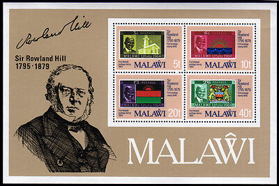 Malawi Bl. 56 **, 100.Todestag Sir Rowland Hill-stamp on stamp