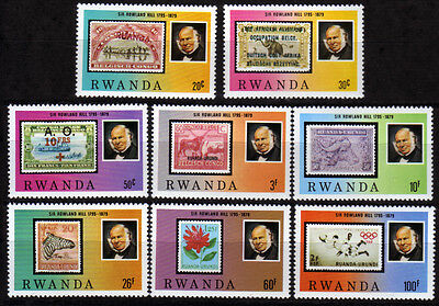 Ruanda 1011-18 **, 100.Todestag Sir Rowland Hill-stamp on stamp