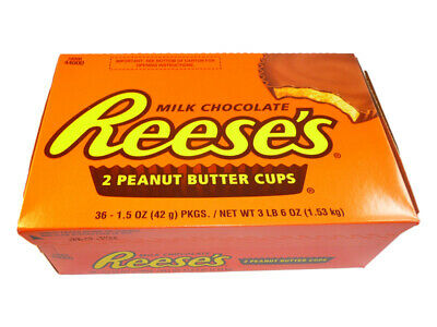 Reese's 2 Peanut Butter Cups 36 x 42g Reeses