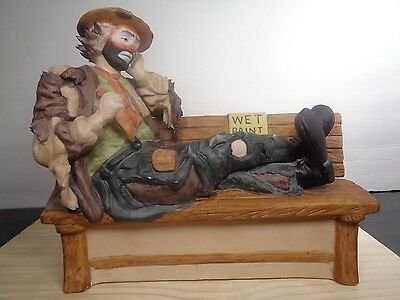 EMMETT KELLY JR Clown Figurine IN THE Bench Wet Paint #5774 Limited Edition