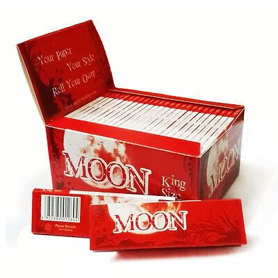 MOON KING SIZE 97mm 50 Pack X 32 leaves wood pulp Smoking Rolling Papers