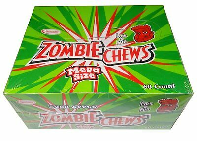 Zombie Chews Sour Apple 60 pieces