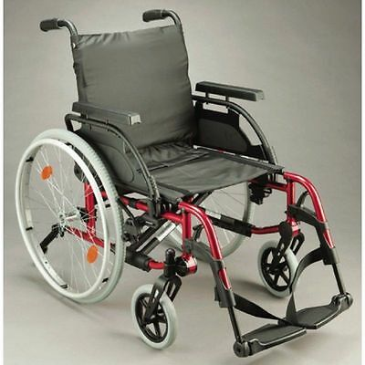 Breezy BasiX2 Wheelchair (Sunrise Medical) Red 14″ 16″ 18″ 20″ *BRAND NEW*