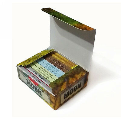 """Moon New Combo Pack Cigarette Rolling Papers 1.0"""" size 10 booklets totally"""