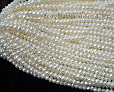 AA wholesale 20 strands small 3-4mm genuine freshwater pearl strings