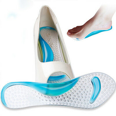 Soft Silicone Gel Heel Cushion Protector Foot Feet Care Shoe Insert Pad Insole