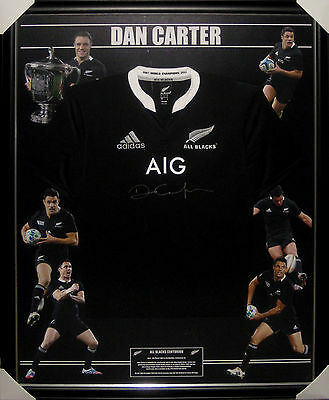 Dan Carter Signed Framed All Blacks Jersey - Ltd Ed Jersey Atag Authenticated