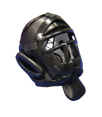 Head guard Martial Arts weapons tactical face cage throat protector headgear