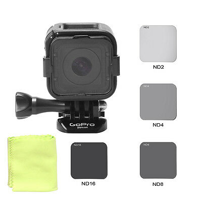 New Neutral Density ND Filter Set Kit ND2 ND4 ND8 ND16 for GoPro Hero4 5 Session