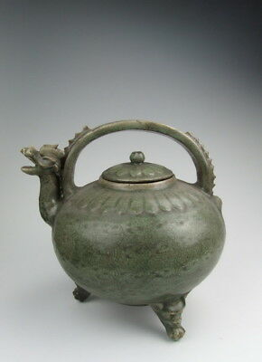 Chinese Antique Longquan Ware Porcelain Wine Pot with Dragon Spout