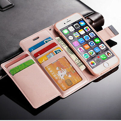 New Luxury Magnetic Flip Cover Stand Wallet Leather Case For Apple iPhone