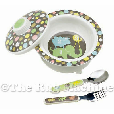 Sugar Booger Animal Numbers Kids Suction Bowl Gift Dinner Set **New**