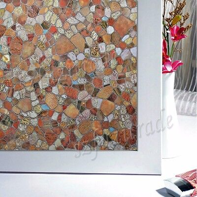 Anti-UV Static Cling Stained Glass Window Film PVC Privacy Protection 45x200CM