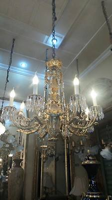 French crown unique chandelier in gold